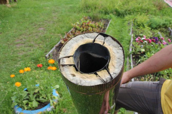 Двухстенная утепленная труба из нержавейки