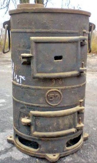 Чугунная армейская печь ПОВ-57