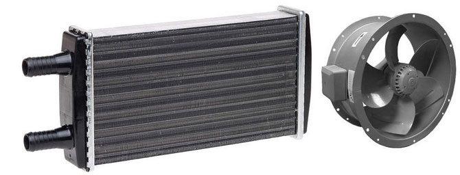 Водяной тепловентилятор для отопления производственных помещений