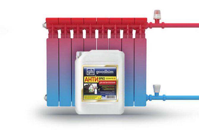 Антифриз для системы отопления дома