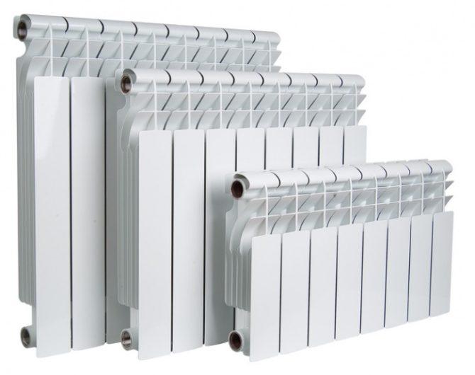 Батареи биметаллические белые