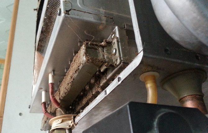 Чистка газового котла отопления