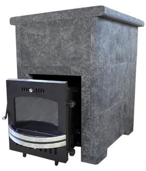 Банная печь Магнум с чугунной топкой ЧТ-1 в талькохлорите