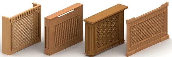 Декоративные решётки на батареи деревянные