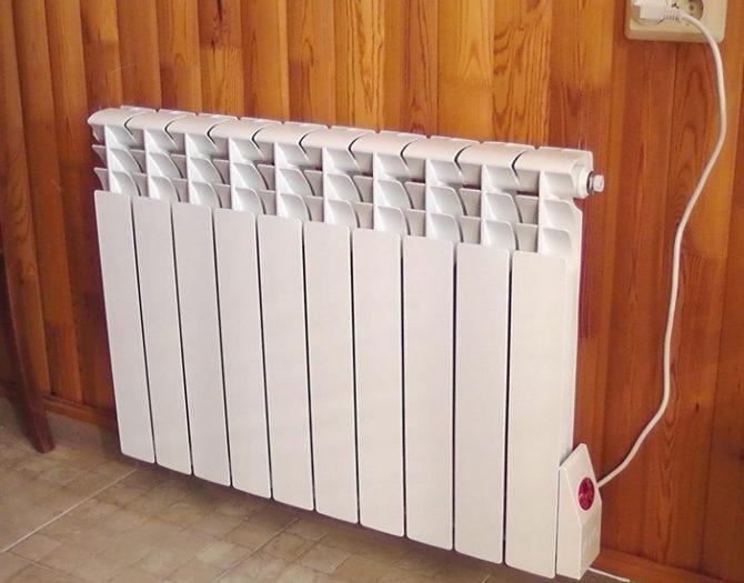 Электрический настенный радиатор