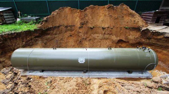 Установка газгольдера ВПС на бетонную опору