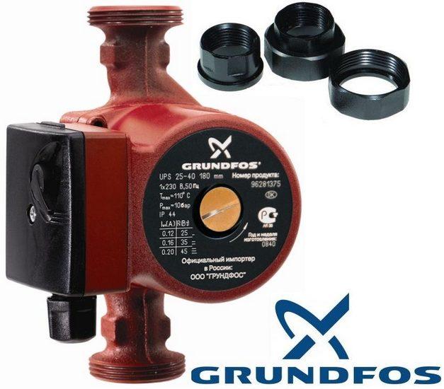 Циркуляционный насос Grundfos UPS 25-40 для систем отопления