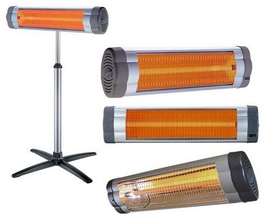 Электрические инфракрасные обогреватели различных типов
