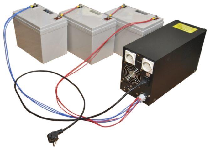 Инвертор с акумуляторами