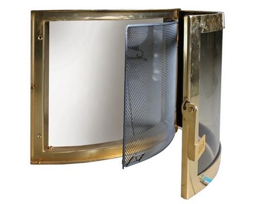 Дверца каминная со стеклом
