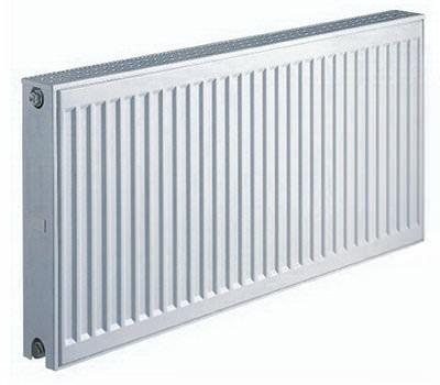 Белый радиатор из стали керми
