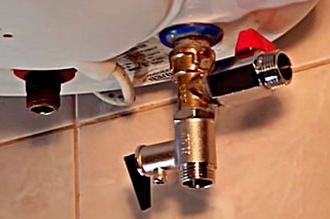 Установленный предохранительный клапан