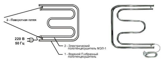 Комбинированный полотенцесушитель
