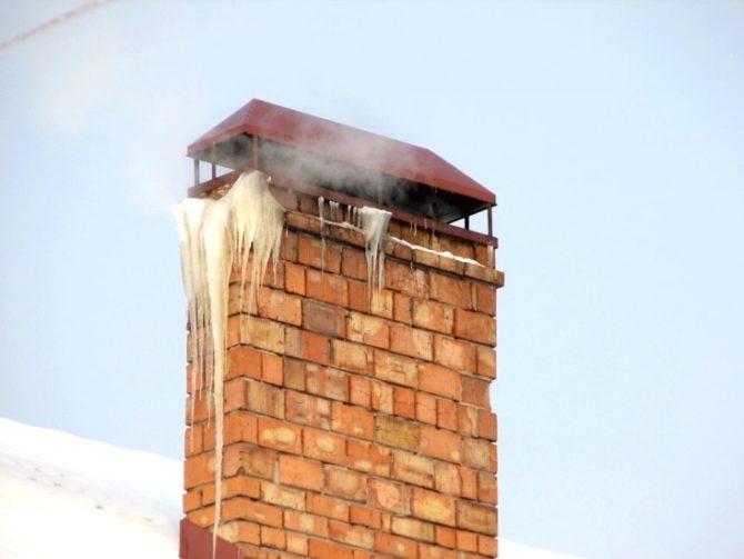 Конденсат в кирпичном дымоходе
