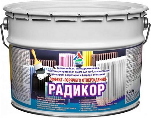 краска для батарей радикор