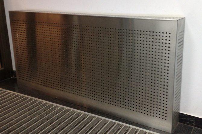 Экран на батарею из нержавеющей стали