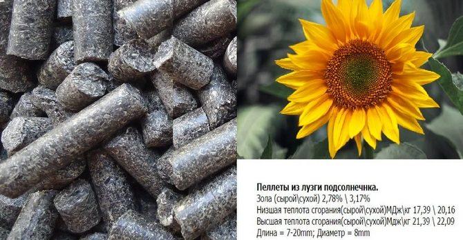 Пеллеты из лузги подсолнечника и их характеристики