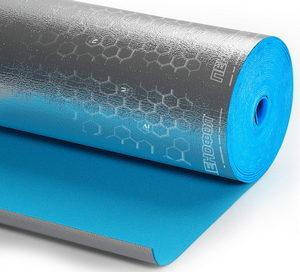 на основе вспененного полиэтилена с закрытыми порами, дублированный с одной стороны полированной алюминиевой фольгой