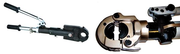 ручные гидравлические пресс-клещи для металлопластиковы труб