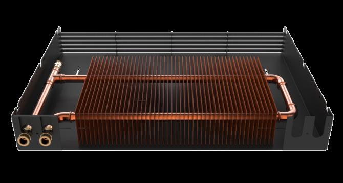 Радиатор с разобранным корпусом