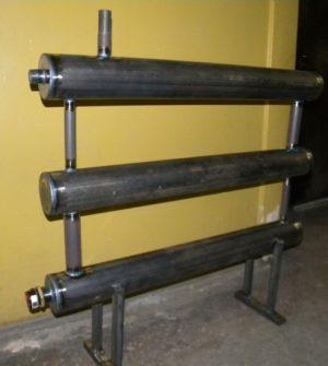 Регистр отопления из стальных труб своими руками