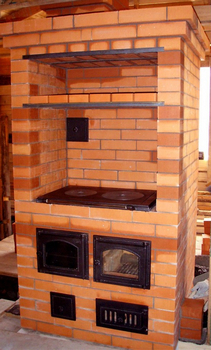 Печь шведка с плитой