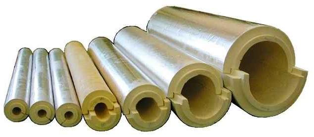 Базальтовая вата для дымоходных труб различного диаметра