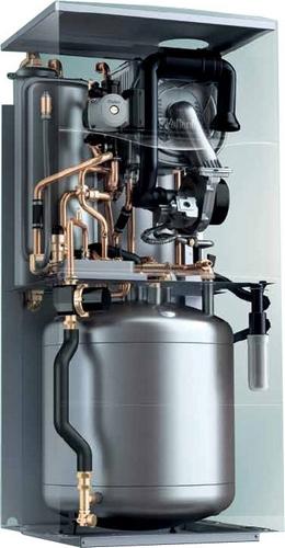 Газовый напольный конденсационный котел Vaillant ecoCOMPACT VSC 206/4-5 20 кВт со встроенным бойлером послойного нагрева на 200 л